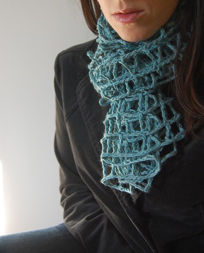 Free Mesh Yarn Crochet Patterns : Crocheted Mesh Scarf yarn & yummies