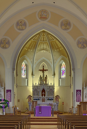 Saint Bernard Roman Catholic Church, in Albers, Illinois, USA - sanctuary