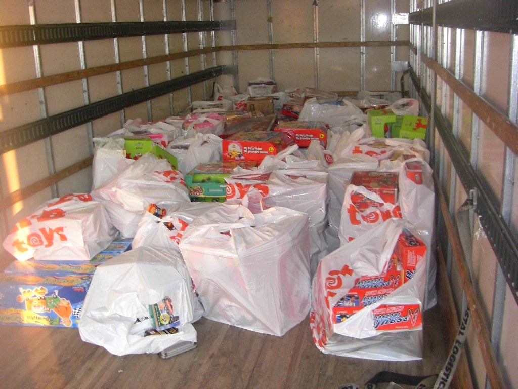 Truckful of Toys For Tots