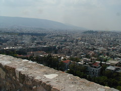 Athens from atop the Acropolis