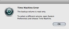 Time Machine Error