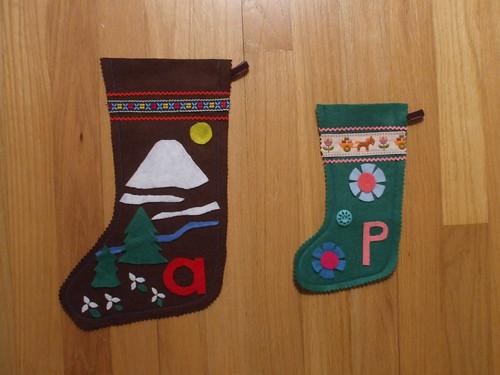 Andrew + Pearl's stockings