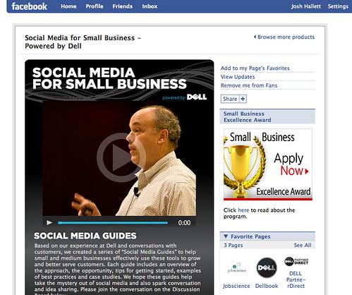 Dell's Social Media Facebook Page