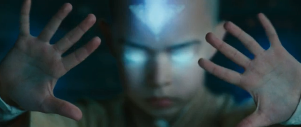 The Last Airbender Aang in Avatar State 2010 movie