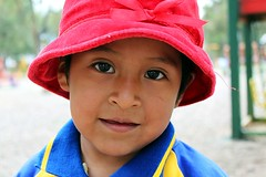 Little Red Ridinghood (Petarine) Tags: latinamerica southamerica girl playground child bolivia cochabamba bolivianchild boliviangirl indigenouschild indigenousgirl