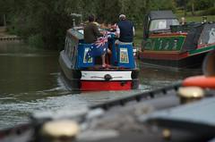 Wyvern sails away (Adrian Court LRPS) Tags: water boats miltonkeynes grandunioncanal narrowboats campbellpark
