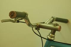 Cool grey Gropes on Mat's Ciocc (NONUSUAL) Tags: leather bike bicycle vintage lens lumix stem italian mechanical lace panasonic frame handlebar pancake custom dmc gropes ciocc bespoke alchemist gf1 nonusual