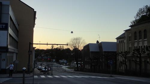 Street in the evening, Turku (20110602)