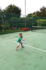 tennis lesson at Mini Club
