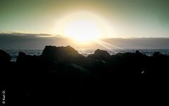 (*paz) Tags: chile sunset sol nature colors atardecer mar agua playa costadorada