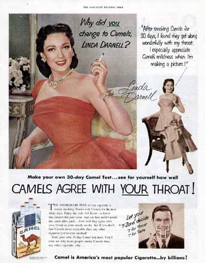 Linda Darnell Camel Pin Up