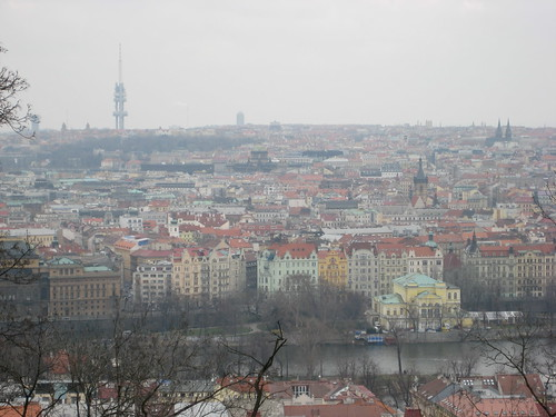 Prague seen from Kinsky Garden