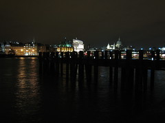 London (xNstAbLe) Tags: uk london thames night reflections river lights stpaulscathedral tamigi blueribbonwinner