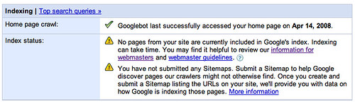 Google Webmaster Tools Error