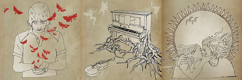 An illustration Mike created for a CD cover