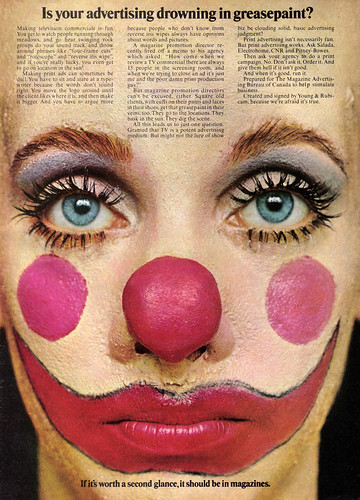 Vintage Ad #543: Is Your Advertising Drowning in Greasepaint?
