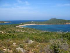 Sentier supérieur Rondinara - Tre Padule : baie de Rondinara et sa plage Sud
