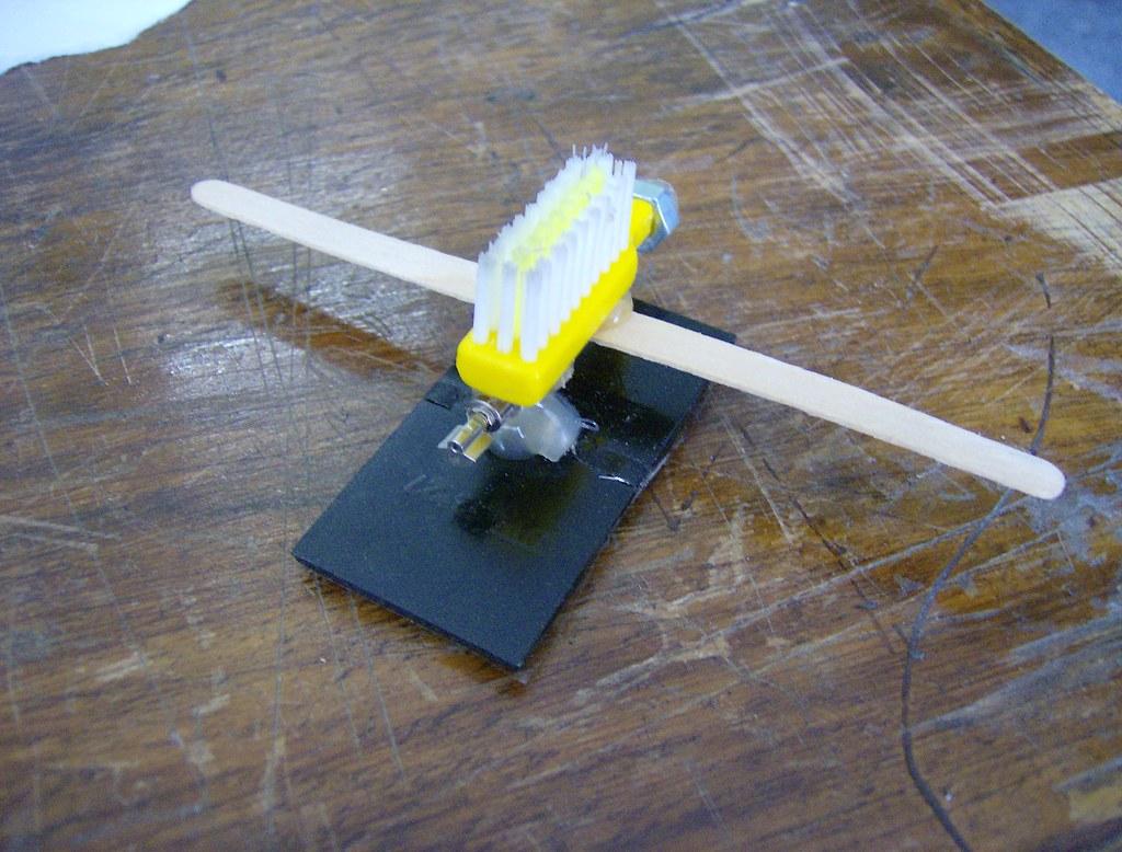 Solar brushbot