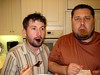 Danny Daneau and Eric Ersnt Caught with Cake - Picture Lock Party