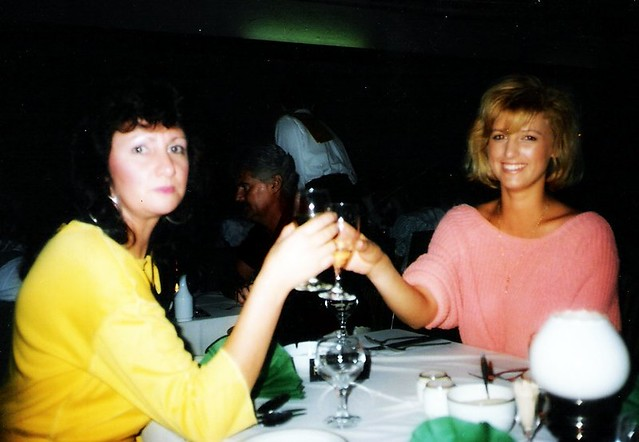 My mum and her friend in the 80's