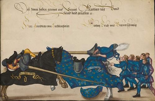 03-Torneo celebrado por el emperador Frederick III.  y su hijo Maximiliano, Linz 1489-1490, 8r