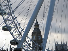 Ben throught the Eye (timinbrisneyland) Tags: england london westminster wheel londoneye bigben