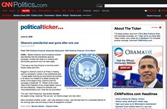 All politics, all the time Blog Archive - Obama's presidential seal gone after one use « - Blogs from CNN.com_1214524524309