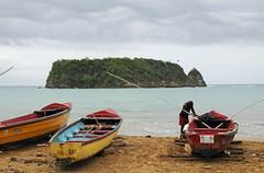 Pagee fishing beach (amataiclaudius) Tags: beach island boat fishing jamaica portmaria