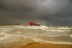 Boat on the Beach with Storm Clouds 01 (itchybana) Tags: