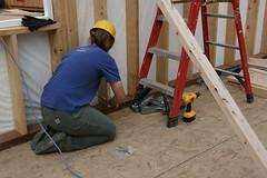 helping with the earthquake braces (Bendini) Tags: alaska anchorage habitatforhumanity globalvillage