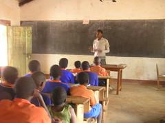 Peter Kibigo teaching HIV lesson