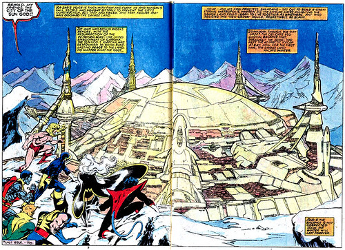 Double-page spread from Uncanny X-Men #116, by John Byrne