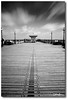 (Claire Hutton) Tags: wood uk longexposure sea england sky blackandwhite bw motion clouds coast pier seaside movement symmetry dorset shelter swanage pierhead lampposts purbecks ndfilter jurassiccoast isleofpurbeck 10stop nd1000 nd110 bw110