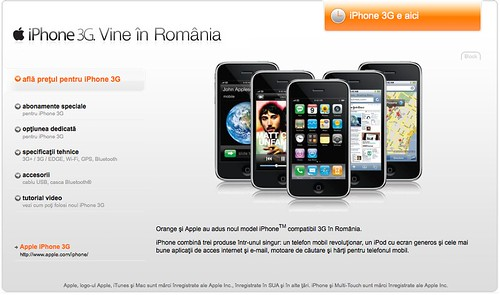 Lansare iPhone 3G in Romania