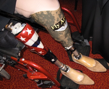 She got special patriotic legs for the DNC