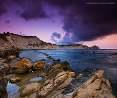 Dawn at Cap Prim (Salva del Saz) Tags: blue sea seascape reflection rock azul canon eos dawn coast spain cabo rocks long exposure mediterranean mediterraneo raw purple alba cove alicante amanecer coastal cap mauve cape 1022mm cala 1022 azur prim javea cokin efs1022mm xabia p121 singleraw nonhdr 40d lamarinaalta salvadordelsaz salvadelsaz bratanesque gradualneutralgreyg2