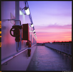 Arctic journey 4 (08.2008) with Yashica Mat 124G (zgodzinski) Tags: 6x6 tlr film ferry mediumformat landscape honeymoon poland polska slide balticsea polonia yashicamat yashicamat124g batyk winoujcie yashinon80mmf35 fujichromevelvia100rvp canoncanoscan8800f
