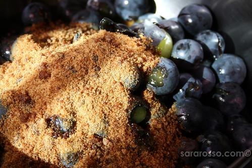 Making Concord Grape - Uva Fragola - Granita
