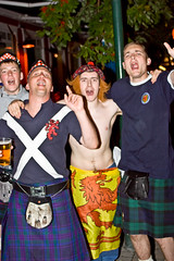 Celebrating Scottish victory in Reykjavik (olikristinn) Tags: people army happy scotland iceland football kilt faces soccer scottish reykjavik have tournament international national match fans kilts reykjavk celebrating scots tartan sporran invaded tartanarmy sporrans theirassoff goddamnscots