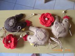 Mbile galinhas (claudia.paino) Tags: feltro croche galinhas