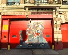 FDNY Firehouse Engine 255 & Ladder 157, Flatbush, Brooklyn, New York City (jag9889) Tags: world county door city nyc house ny newyork building station architecture brooklyn truck painting fire 911 engine center company kings borough wtc ladder rogers firehouse avenue trade fdny department firefighters flatbush 157 bravest 9112001 91101 255 jollyrogers 10048 rogersave zip10048 engine255 ladder157