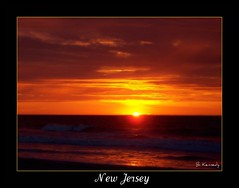 Ocean City, New Jersey -  6:00 a.m. (qparker71 (Brian Kennedy)) Tags: ocean sea sky sun painterly art beach clouds photoshop sunrise print newjersey artwork waves framedart framed dunes shore prints oceancity procesing matted postprocessing goldstaraward