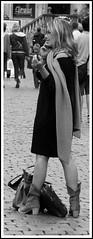 Gran Place (.:Stardust:.) Tags: portrait people blackandwhite bw woman donna belgique grandplace femme bruxelles brussel ritratto biancoenero grotemarkt belgio