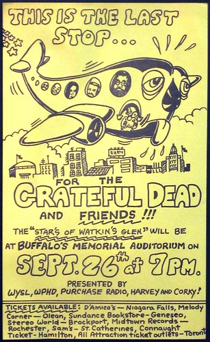 Grateful Dead poster for 9/26/73 Buffalo Memorial Auditorium
