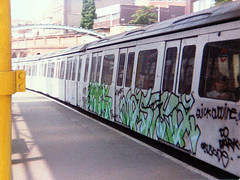 rocs and masika  farringdon early 1990's (Massiwarrior.....) Tags: graffiti tube masi met masika masica masicre masiker