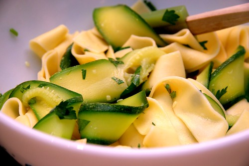 Pappardelle and Zucchini Ribbons