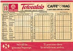 totocalcio 10-78 (K-V-P-r-o-j-e-c-t) Tags: calcio concorsi schedina