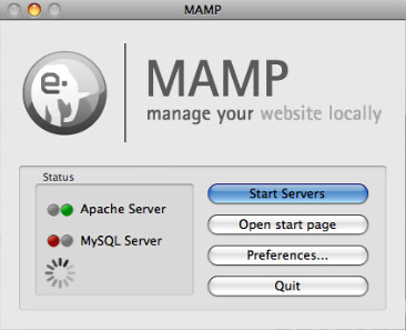 MAMP Server Status