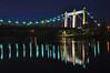 Hennepin Avenue Bridge at Night (mclain5798) Tags: city bridge urban reflection water minnesota architecture modern night river evening downtown suspension photobook minneapolis noflash mississippiriver twincities nikkor stanthony nicolletisland 18200mm nikond90