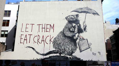 'Let them eat crack' de Bansky